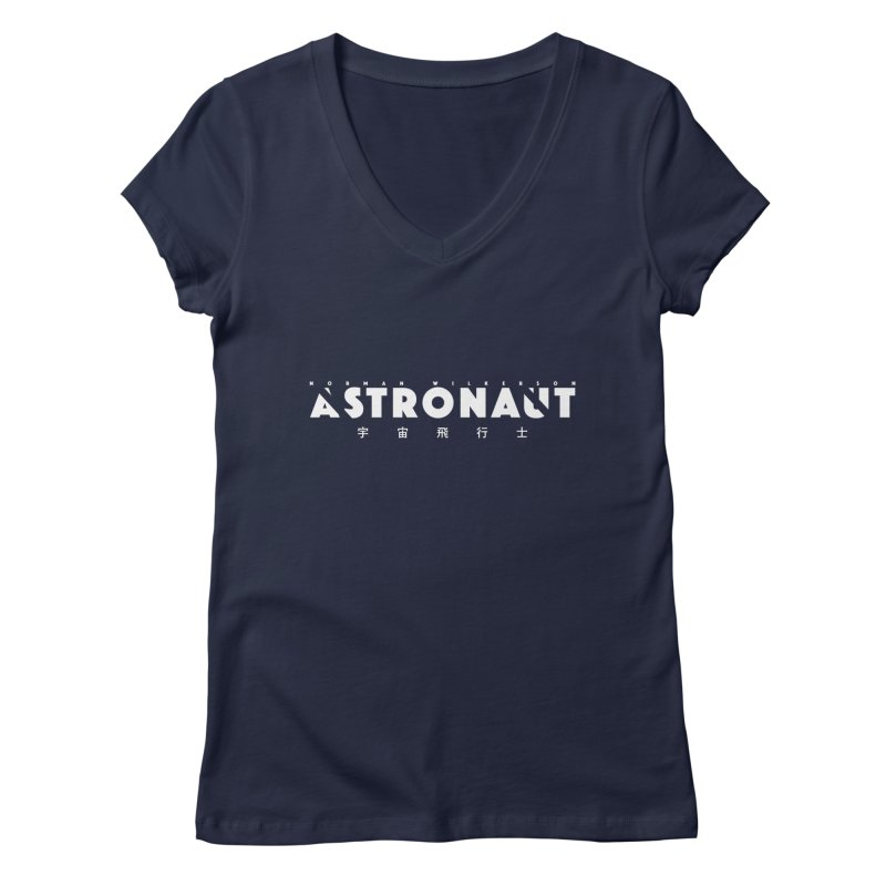 Astronaut Title Logo Women's Regular V-Neck by Norman Wilkerson