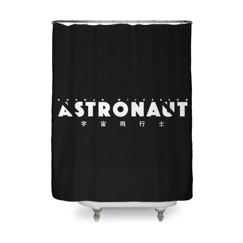 Astronaut Title Logo Home Shower Curtain by Norman Wilkerson