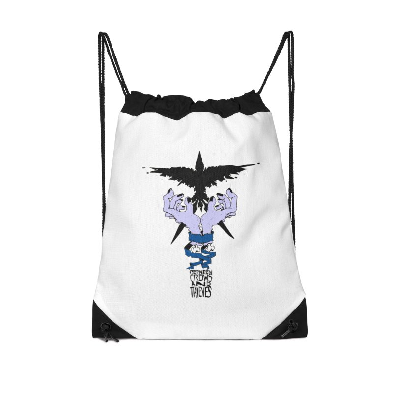 Crow Thief Accessories Drawstring Bag Bag by Norman Wilkerson