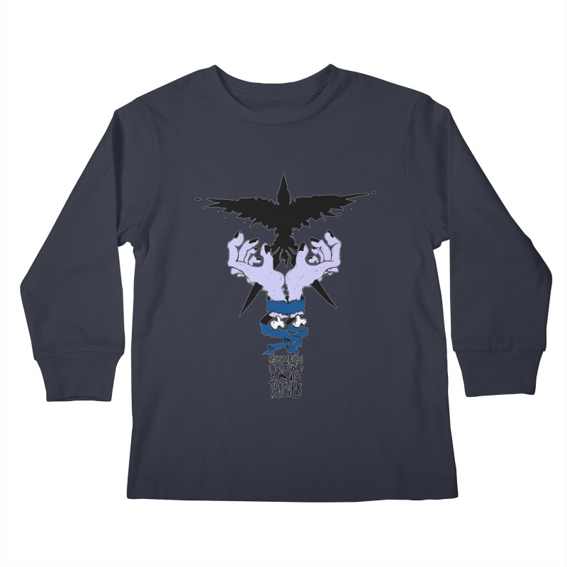 Crow Thief Kids Longsleeve T-Shirt by Norman Wilkerson