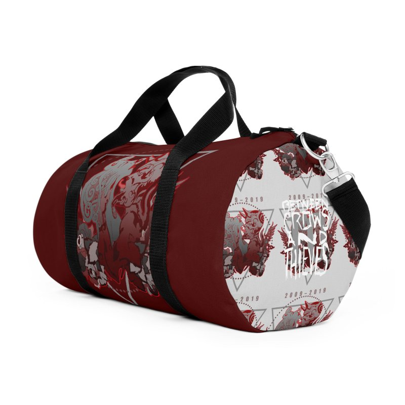 Between Crows & Thieves Anniversary logo Accessories Duffel Bag Bag by Norman Wilkerson