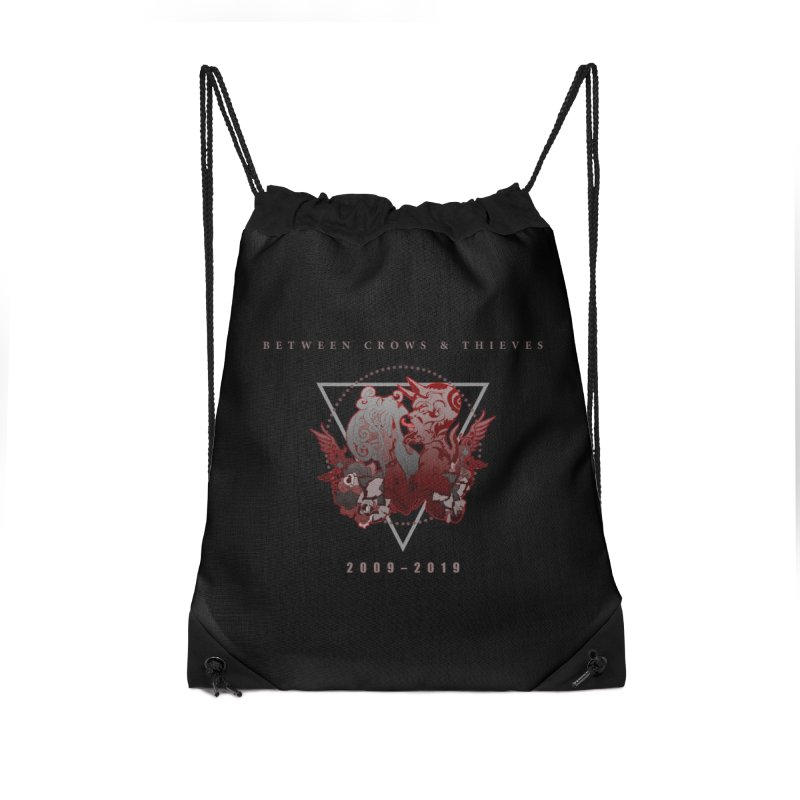 Between Crows & Thieves Anniversary logo Accessories Drawstring Bag Bag by Norman Wilkerson