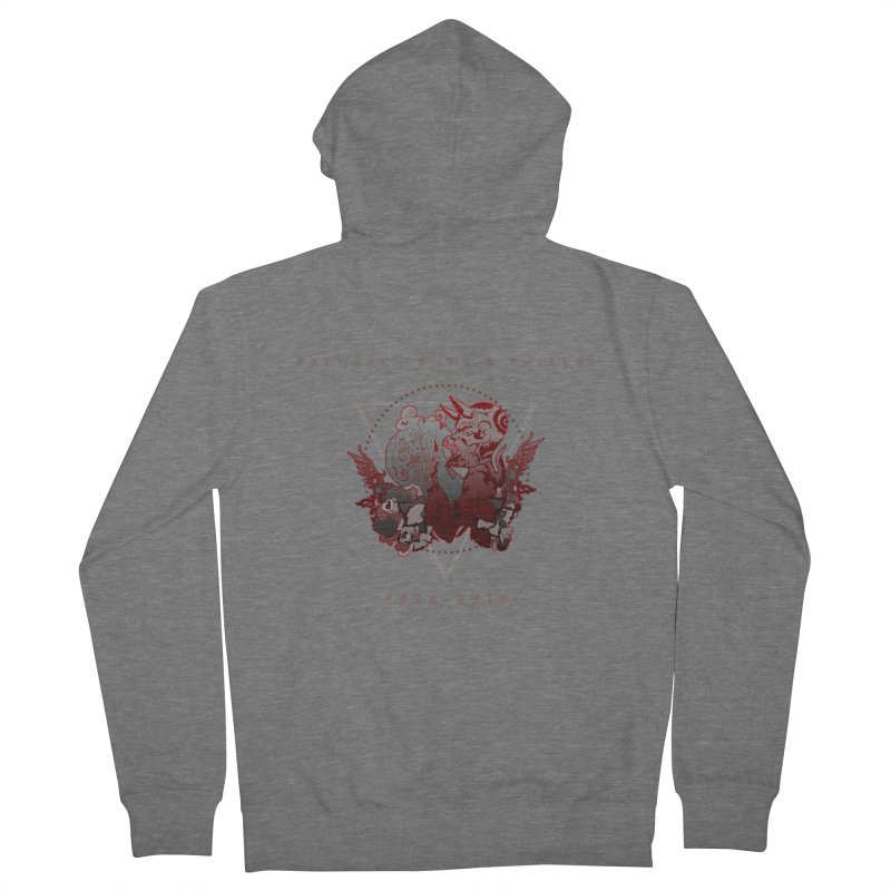 Between Crows & Thieves Anniversary logo Men's French Terry Zip-Up Hoody by Norman Wilkerson