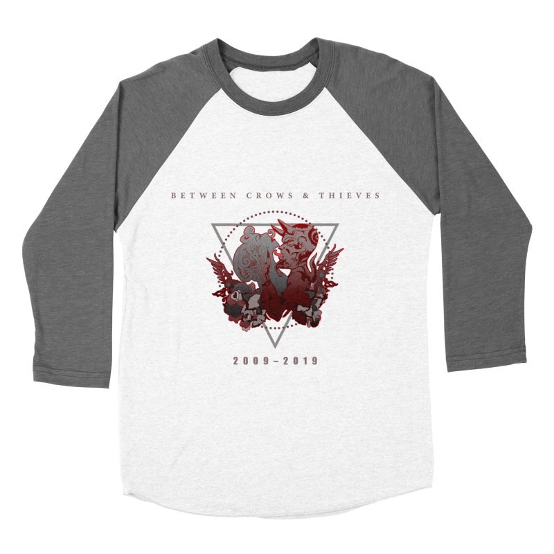 Between Crows & Thieves Anniversary logo Men's Baseball Triblend Longsleeve T-Shirt by Norman Wilkerson