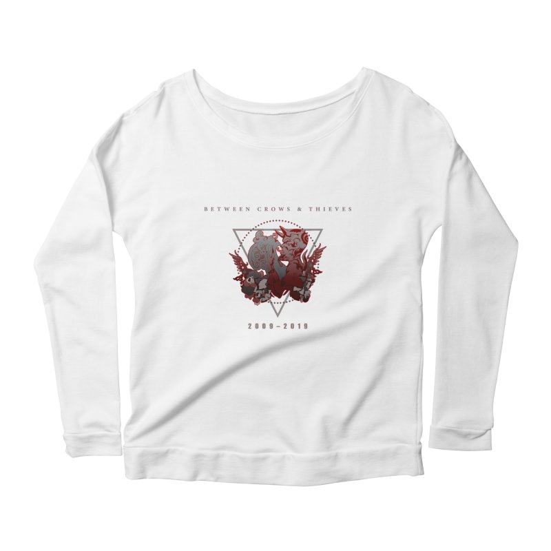Between Crows & Thieves Anniversary logo Women's Scoop Neck Longsleeve T-Shirt by Norman Wilkerson
