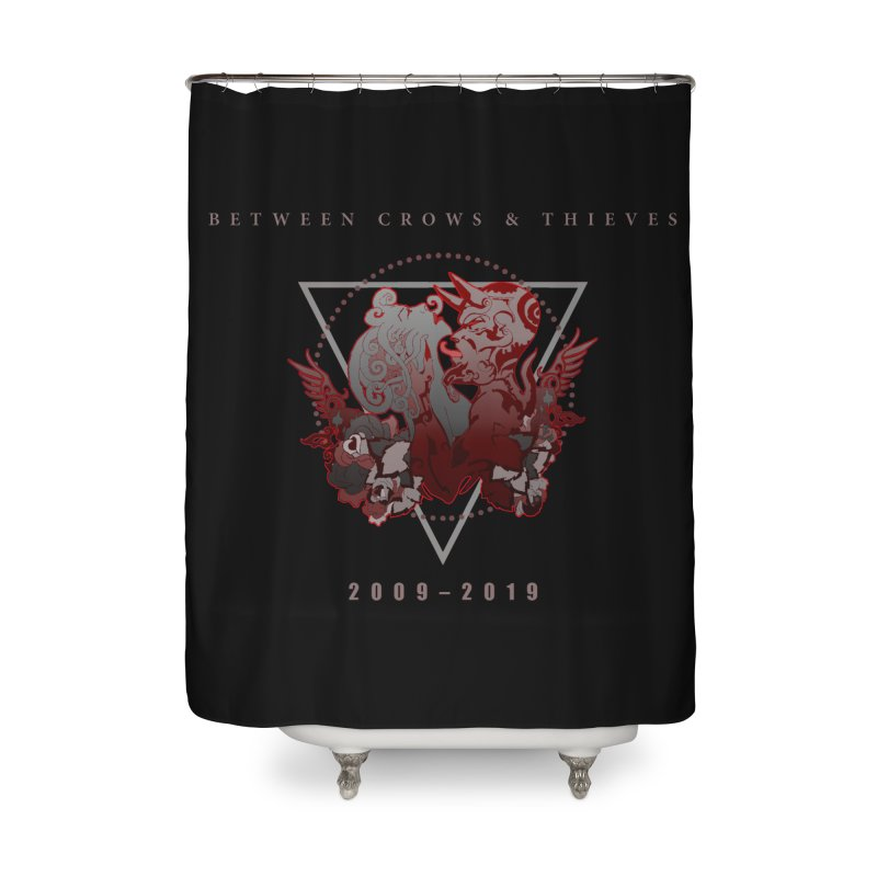 Between Crows & Thieves Anniversary logo Home Shower Curtain by Norman Wilkerson