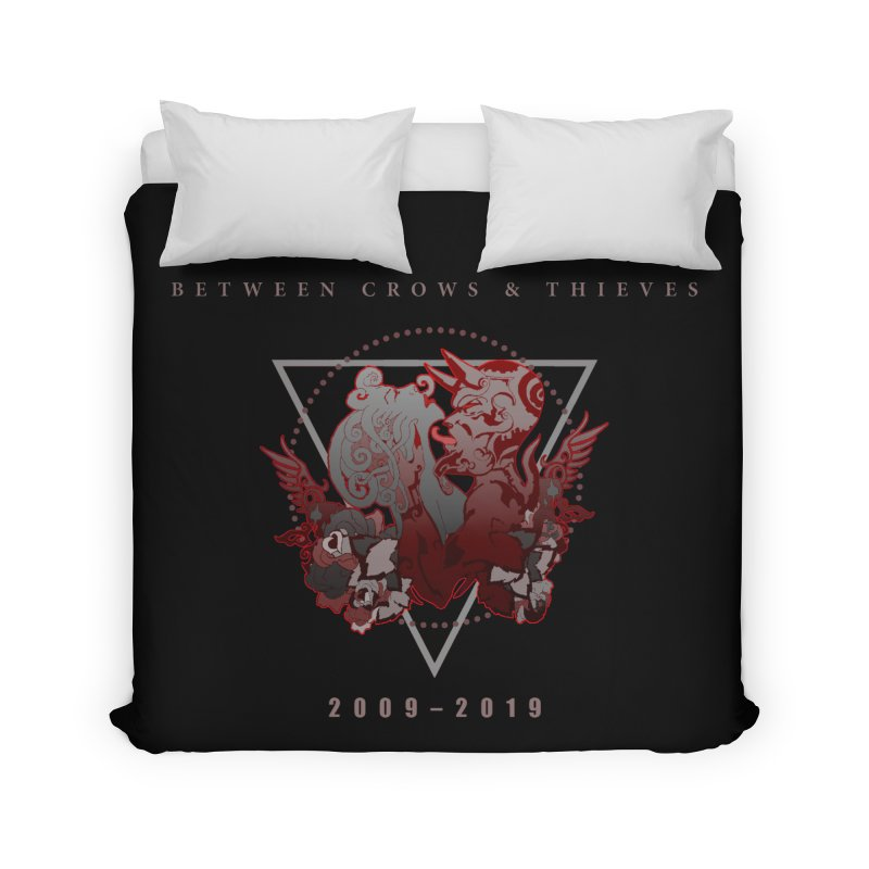 Between Crows & Thieves Anniversary logo Home Duvet by Norman Wilkerson