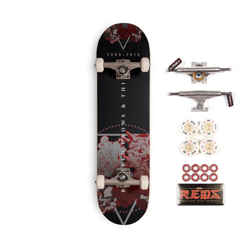 Between Crows & Thieves Anniversary logo Accessories Complete - Pro Skateboard by Norman Wilkerson