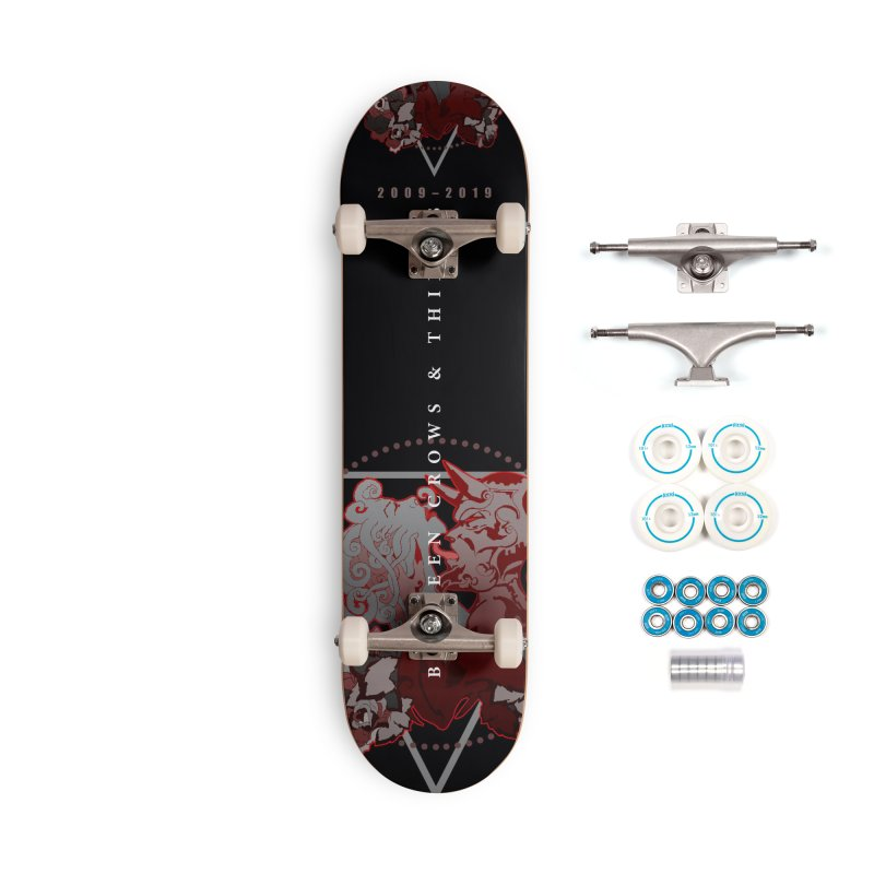 Between Crows & Thieves Anniversary logo Accessories Complete - Basic Skateboard by Norman Wilkerson