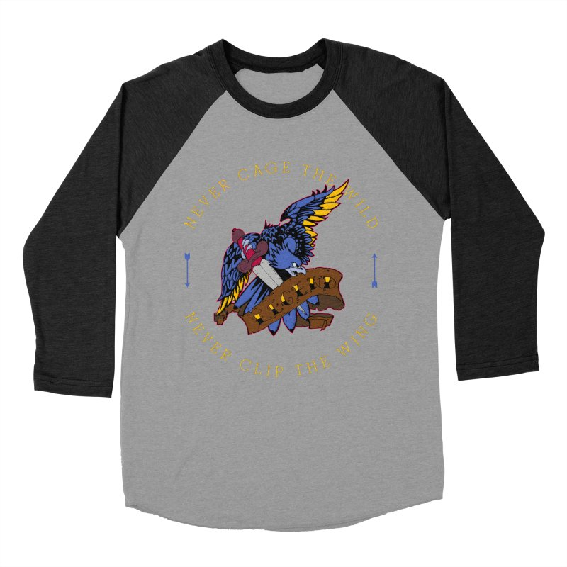 Never Cage The Wild Women's Baseball Triblend Longsleeve T-Shirt by NORMAN WDC SHOP