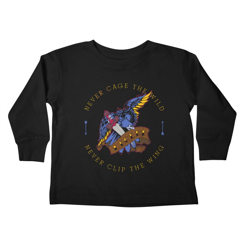 Never Cage The Wild Kids Toddler Longsleeve T-Shirt by NORMAN WDC SHOP