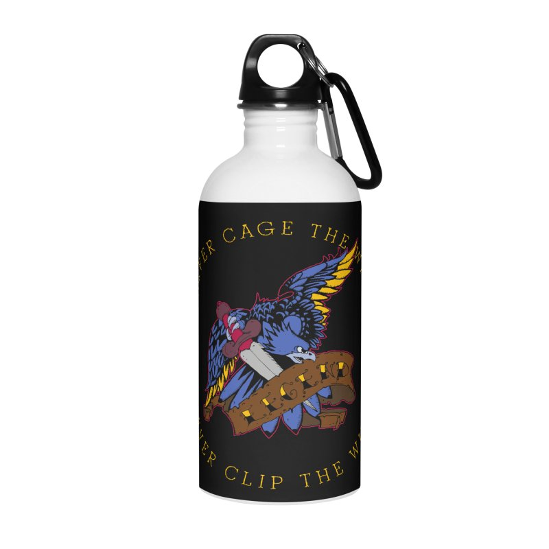 Never Cage The Wild Accessories Water Bottle by NORMAN WDC SHOP
