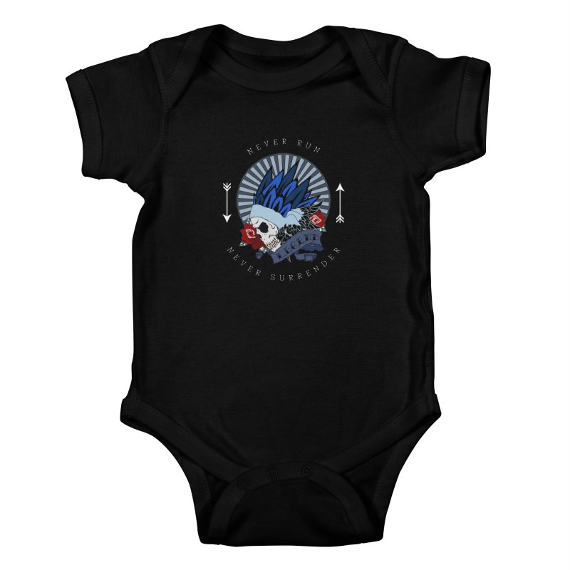 Never Run Kids Baby Bodysuit by NORMAN WDC SHOP