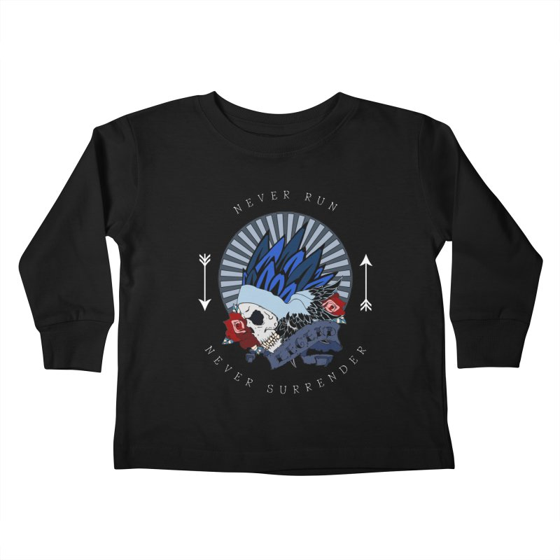 Never Run Kids Toddler Longsleeve T-Shirt by NORMAN WDC SHOP