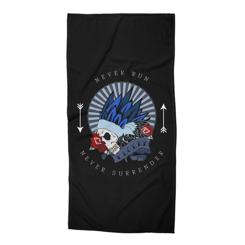 Never Run Accessories Beach Towel by NORMAN WDC SHOP