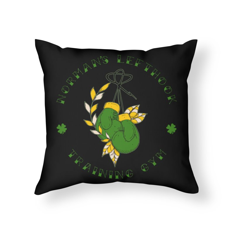 Norman's Lefthook Home Throw Pillow by NORMAN WDC SHOP