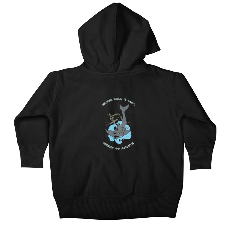 Never Tell a Soul Kids Baby Zip-Up Hoody by NORMAN WDC SHOP