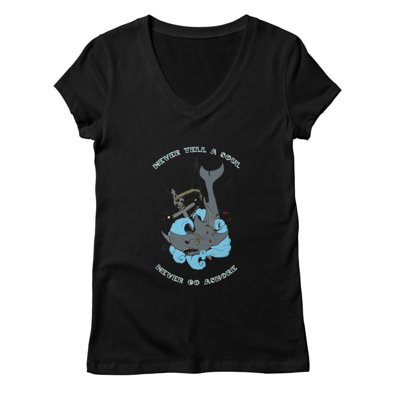 Never Tell a Soul Women's Regular V-Neck by NORMAN WDC SHOP