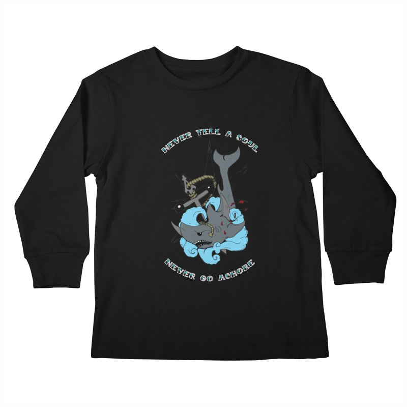 Never Tell a Soul Kids Longsleeve T-Shirt by NORMAN WDC SHOP