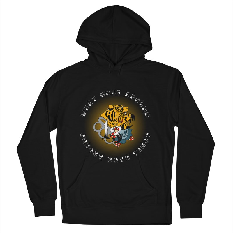 Tigers & Knuckles Women's French Terry Pullover Hoody by NORMAN WDC SHOP