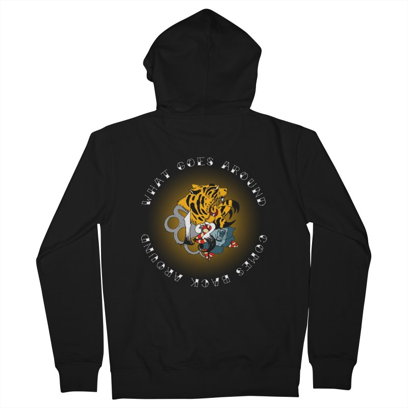 Tigers & Knuckles Men's French Terry Zip-Up Hoody by NORMAN WDC SHOP