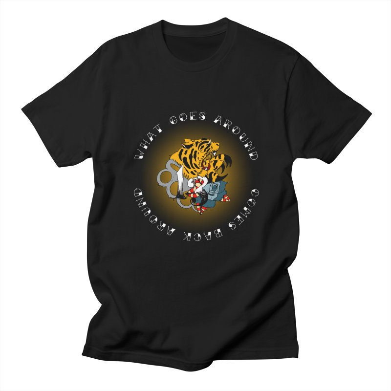 Tigers & Knuckles Men's Regular T-Shirt by NORMAN WDC SHOP