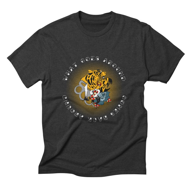 Tigers & Knuckles Men's Triblend T-Shirt by NORMAN WDC SHOP