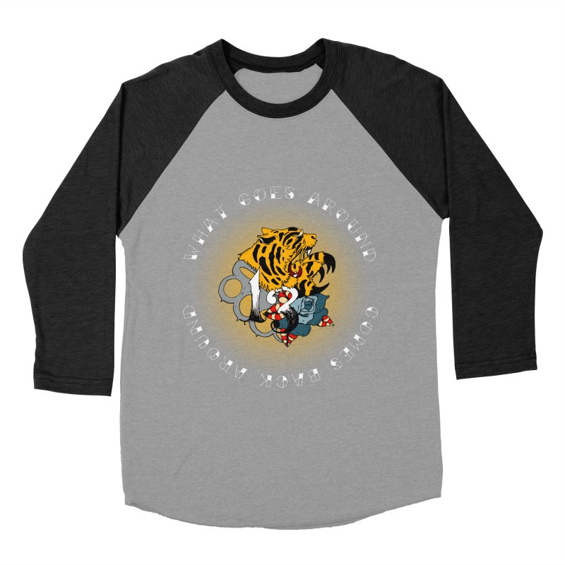 Tigers & Knuckles Men's Baseball Triblend Longsleeve T-Shirt by NORMAN WDC SHOP