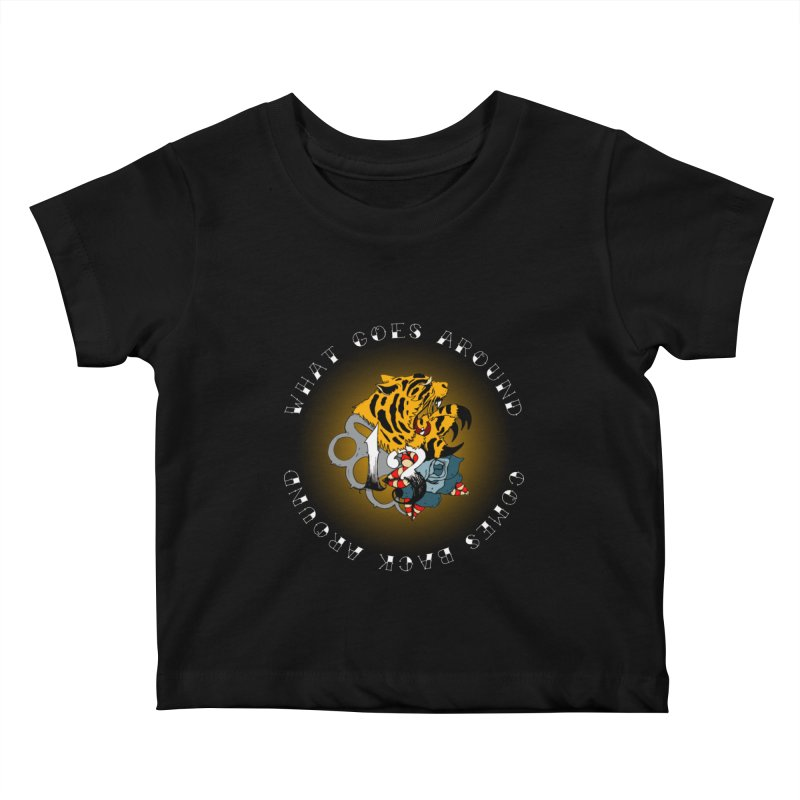 Tigers & Knuckles Kids Baby T-Shirt by NORMAN WDC SHOP