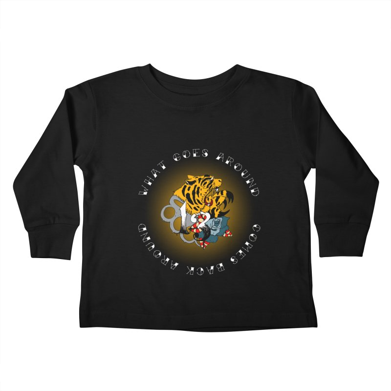 Tigers & Knuckles Kids Toddler Longsleeve T-Shirt by NORMAN WDC SHOP