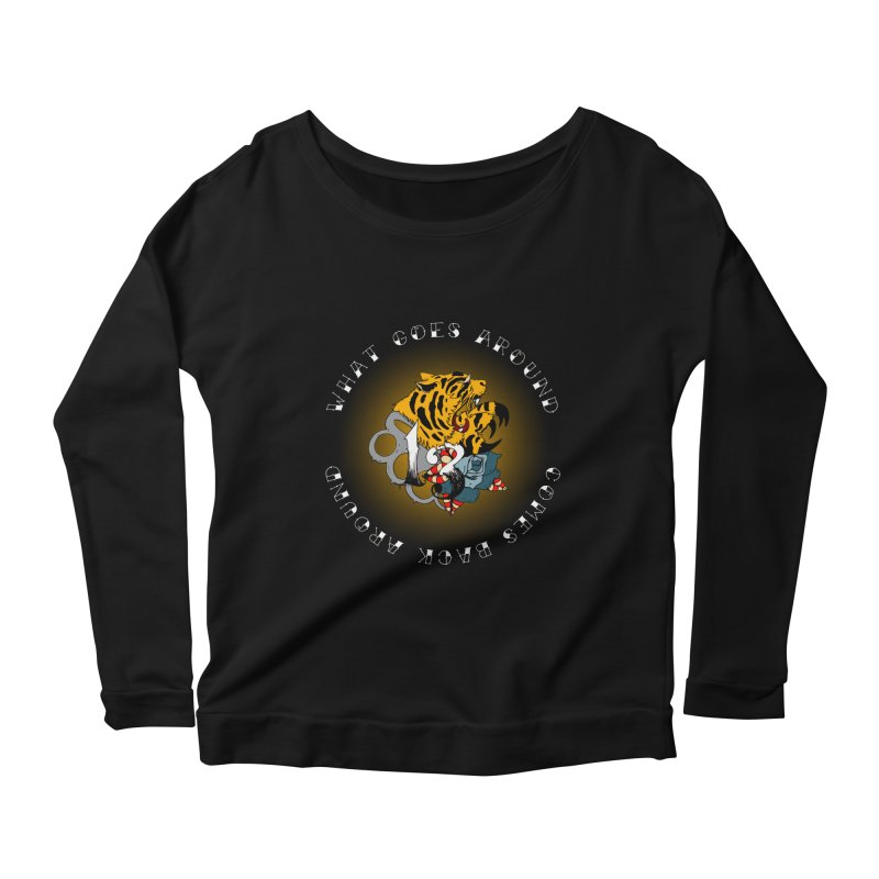 Tigers & Knuckles Women's Scoop Neck Longsleeve T-Shirt by NORMAN WDC SHOP