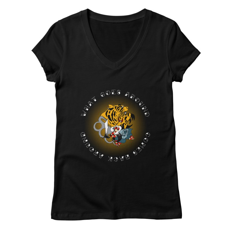 Tigers & Knuckles Women's Regular V-Neck by NORMAN WDC SHOP