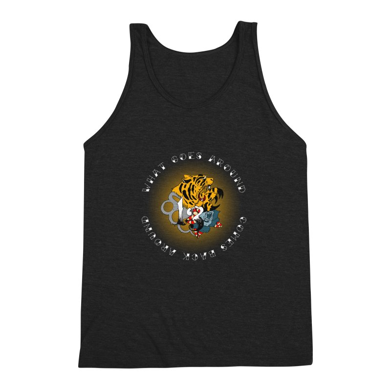 Tigers & Knuckles Men's Triblend Tank by NORMAN WDC SHOP