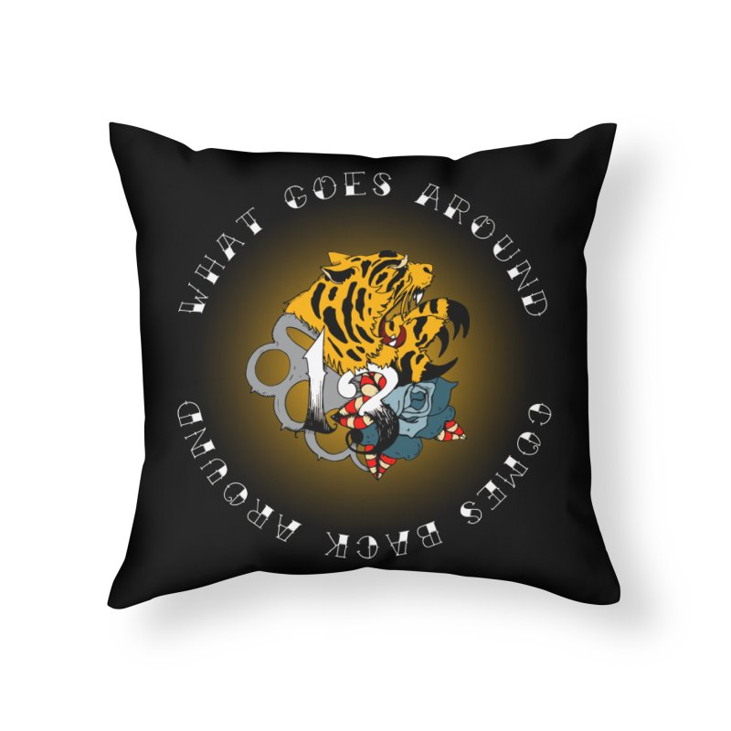 Tigers & Knuckles Home Throw Pillow by NORMAN WDC SHOP