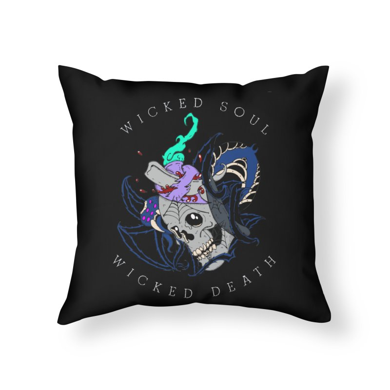 Wicked Soul Home Throw Pillow by NORMAN WDC SHOP