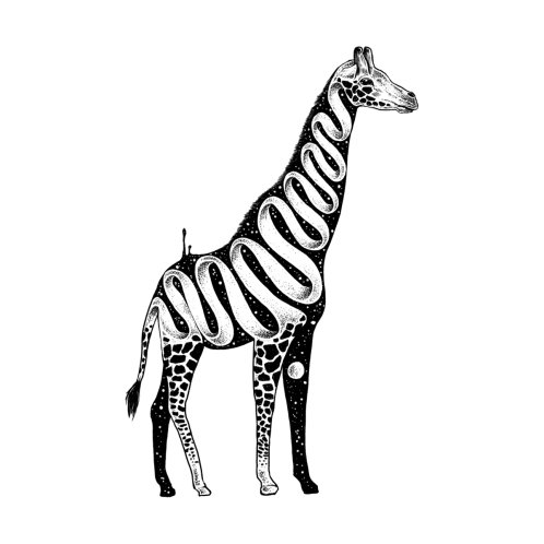 Design for Lost in Its Own Existence (Giraffe)