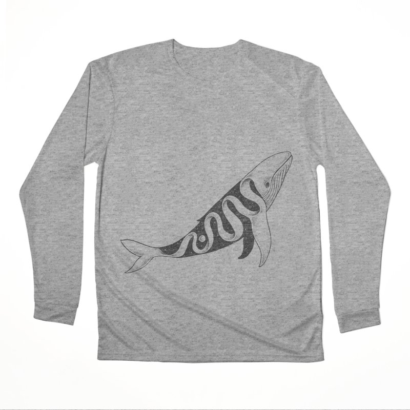 Lost in Its Own Existence (Whale) Men's Longsleeve T-Shirt by normanduenas's Artist Shop