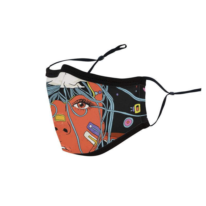 The Other Side of Rain Accessories Face Mask by normanduenas's Artist Shop