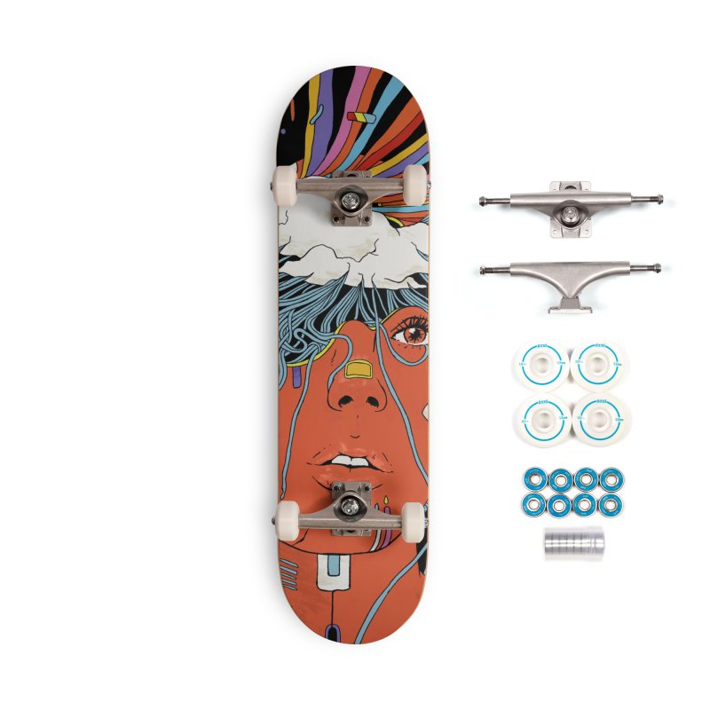 The Other Side of Rain Accessories Skateboard by normanduenas's Artist Shop