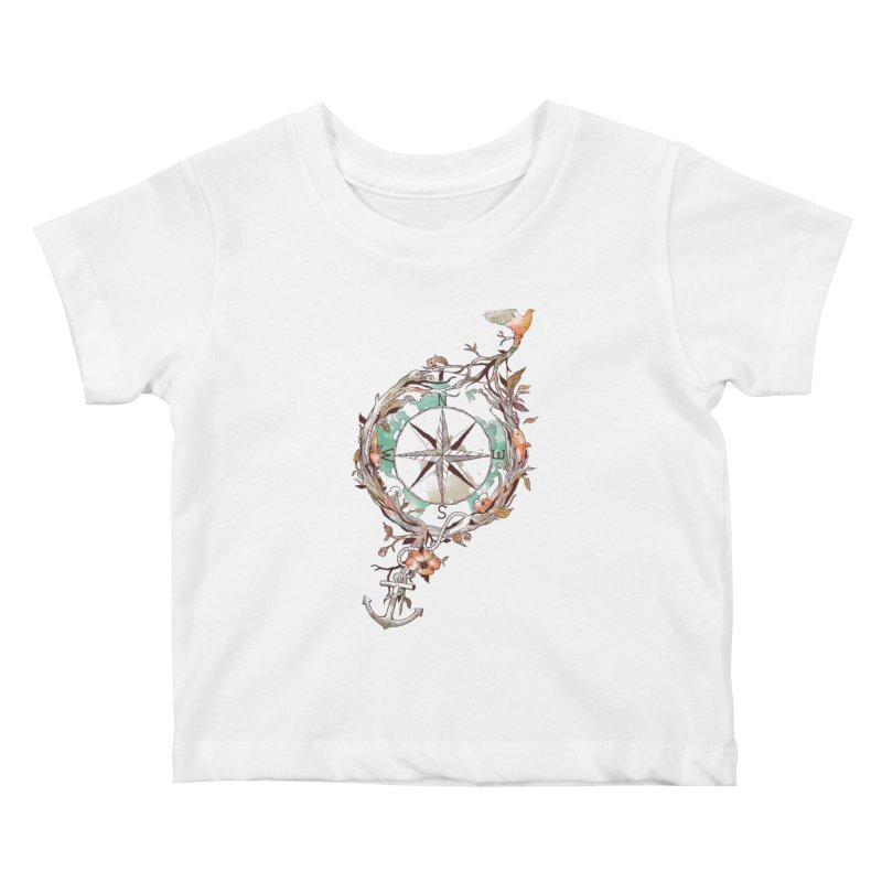 Bon Voyage Kids Baby T-Shirt by normanduenas's Artist Shop