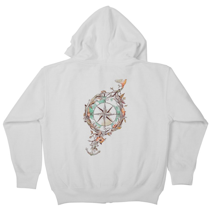 Bon Voyage Kids Zip-Up Hoody by normanduenas's Artist Shop