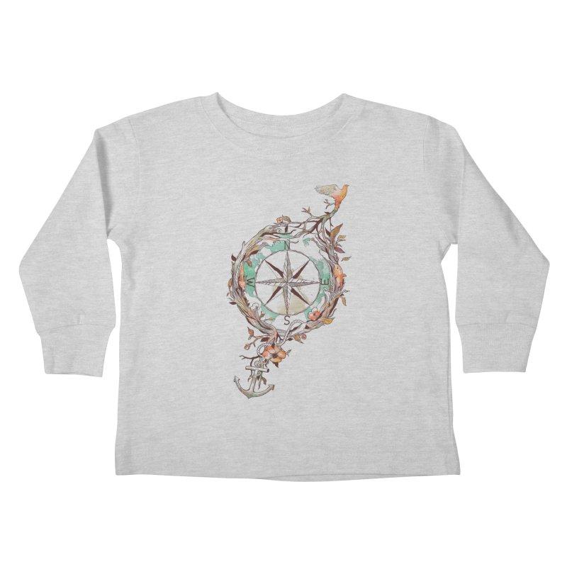 Bon Voyage Kids Toddler Longsleeve T-Shirt by normanduenas's Artist Shop