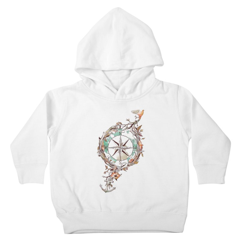 Bon Voyage Kids Toddler Pullover Hoody by normanduenas's Artist Shop