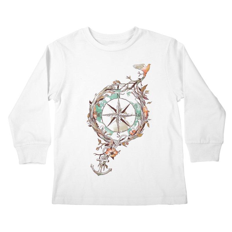 Bon Voyage Kids Longsleeve T-Shirt by normanduenas's Artist Shop