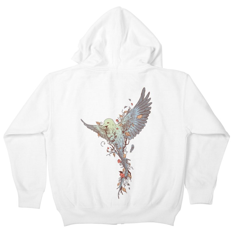 Tempus Fugit Kids Zip-Up Hoody by normanduenas's Artist Shop