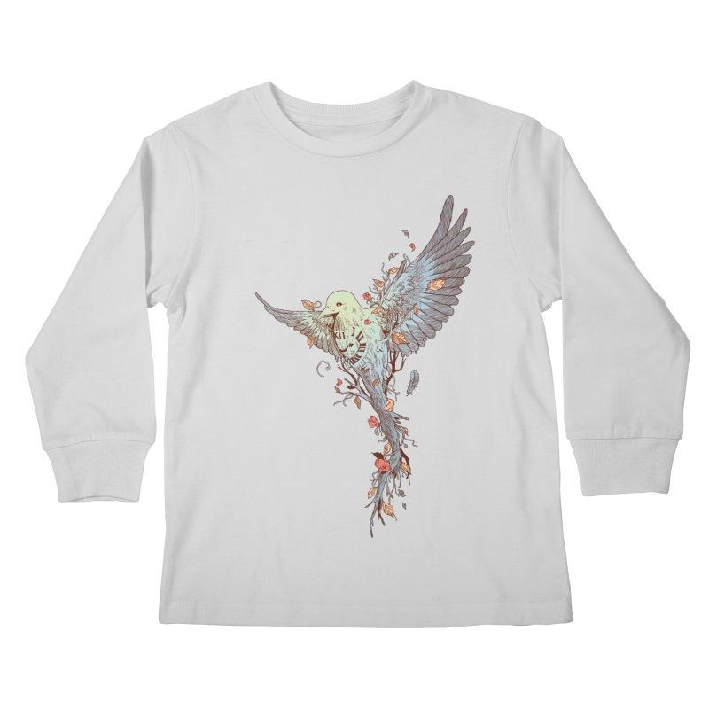 Tempus Fugit Kids Longsleeve T-Shirt by normanduenas's Artist Shop
