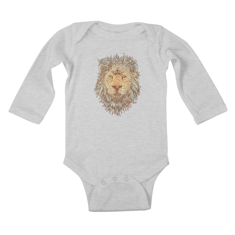The Blue-Blooded and The Brave Kids Baby Longsleeve Bodysuit by normanduenas's Artist Shop