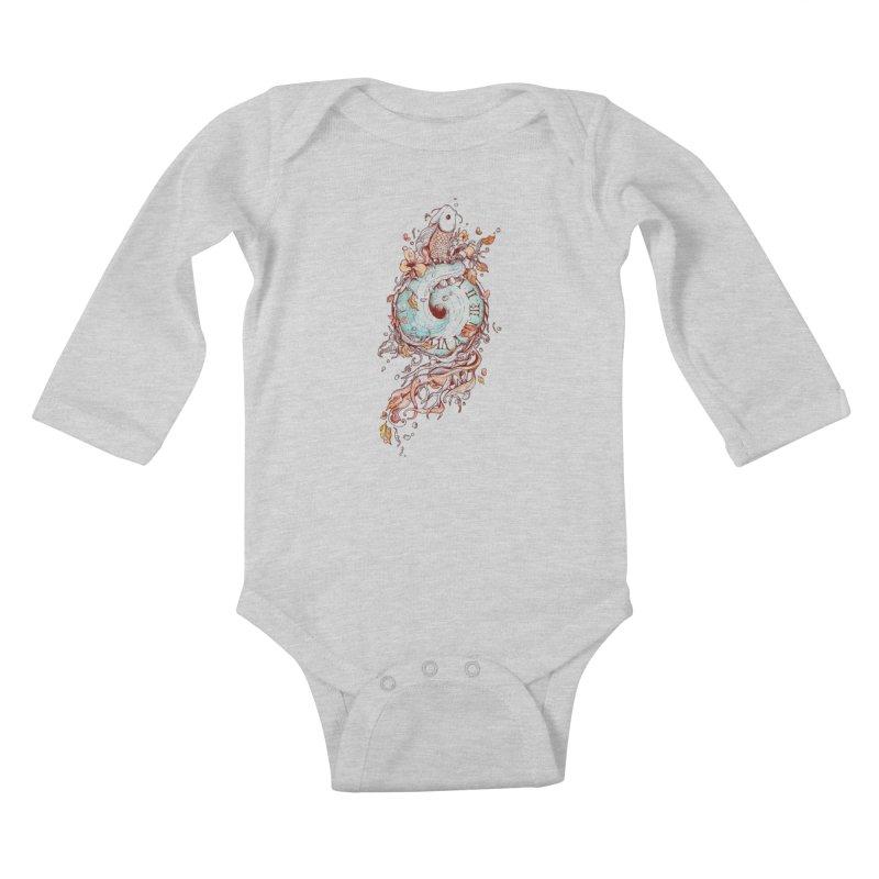 A Temporal Existence Kids Baby Longsleeve Bodysuit by normanduenas's Artist Shop