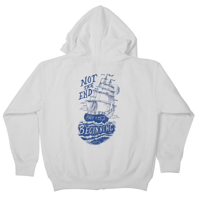 Beginning Kids Zip-Up Hoody by normanduenas's Artist Shop
