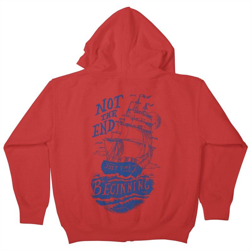 Beginning Kids Zip-Up Hoody by normanduenas's Artist Shop